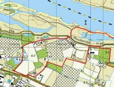 WandelZapp met topografische kaarten