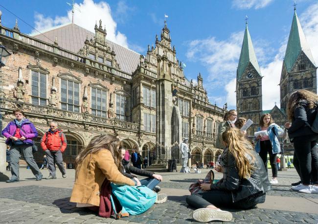 Bremen: parken, stadswal en Altstadt